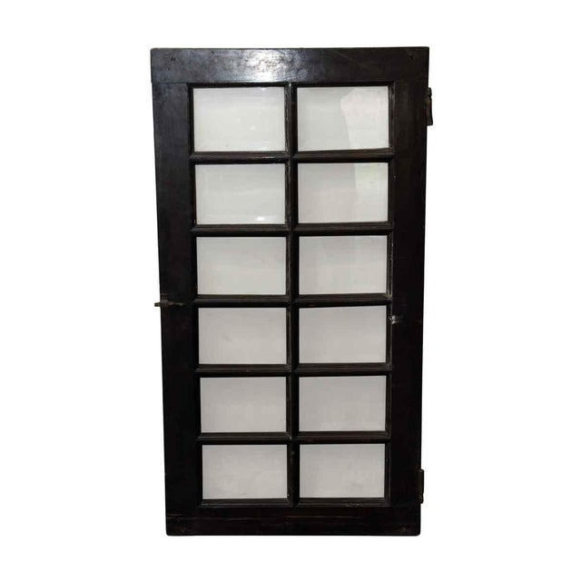 Beveled Glass 12-Panel Window For Sale - Image 4 of 5