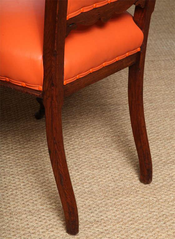 A Pair Of Mahogany Regency Side Chairs On Casters
