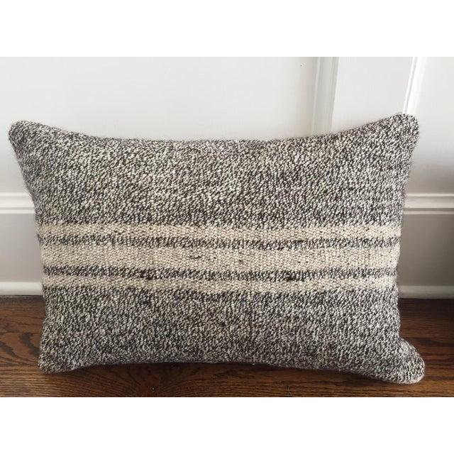 Ivory & Gray Kilim Pillows - A Pair - Image 3 of 5