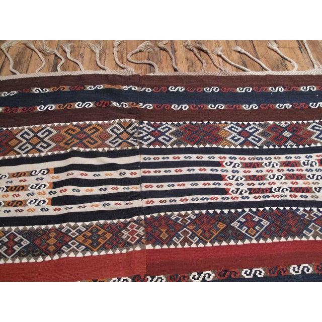 Mid 19th Century Antique Shavak Kilim For Sale - Image 5 of 8