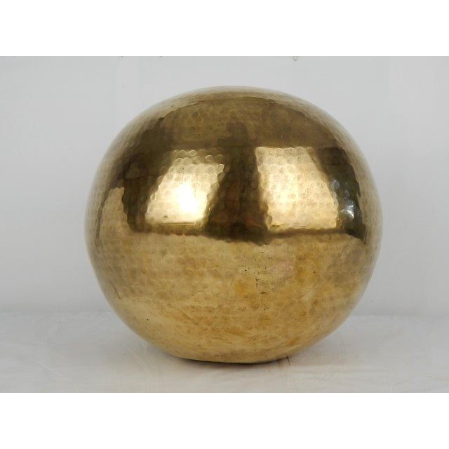 Mid-Century Modern C. 1970s Hammered Brass Vase For Sale - Image 3 of 9