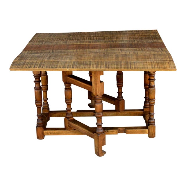 Spanish Colonial Folding Gateleg Table For Sale