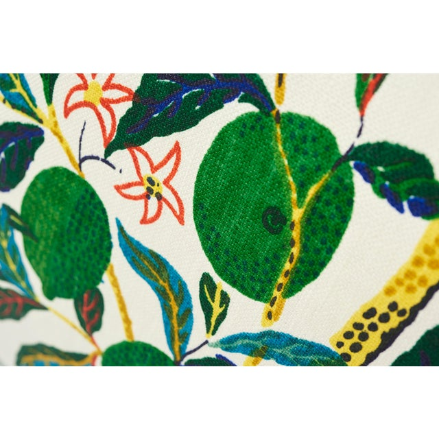 2010s Schumacher Double-Sided Pillow in Citrus Garden Primary Linen Print For Sale - Image 5 of 8