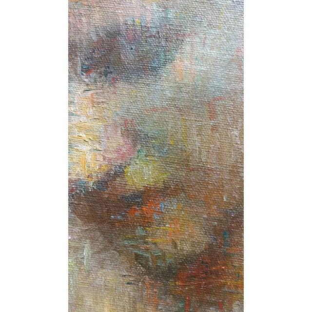 Stevan Kissel - Portrait of a Female Dancer - Oil Painting - Pointillism For Sale - Image 9 of 13