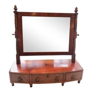 English Regency Mahogany Lion's Head Table Mirror