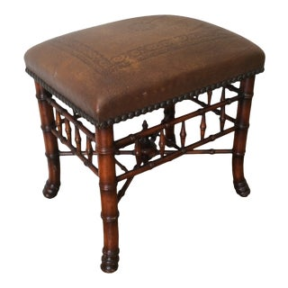 1990s Vintage Theodore Alexander Far East Stool For Sale