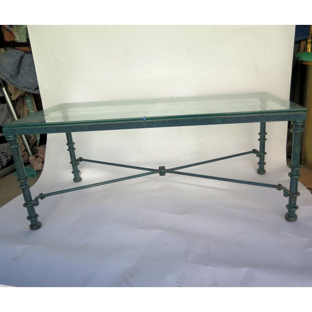 1950s Diego Giacometti Style Iron Coffee Table For Sale - Image 5 of 6