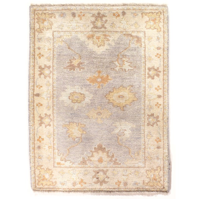 """Hand Knotted Oushak Rug - 2'2"""" X 3' - Image 1 of 2"""