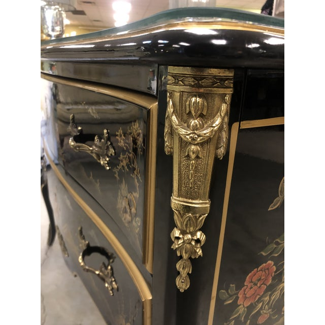 1970s Chinoiserie Lacquered 2-Drawer Chest For Sale - Image 12 of 13