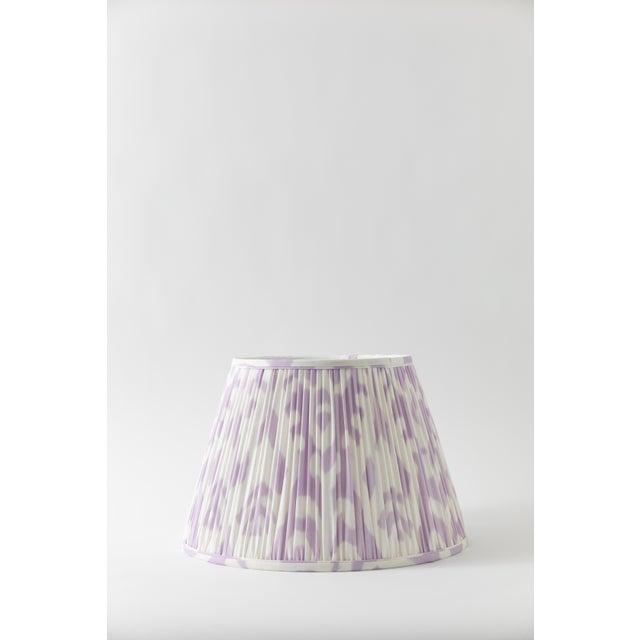 "Metal Soft Ikat in Lavender 10"" Lamp Shade, Lavender For Sale - Image 7 of 7"