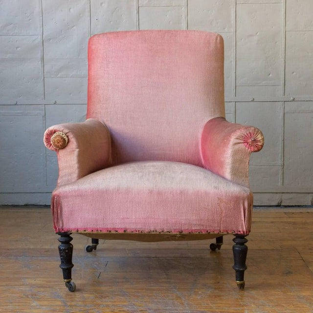 19th Century 19th Century French Armchair and Ottoman For Sale - Image 5 of 11