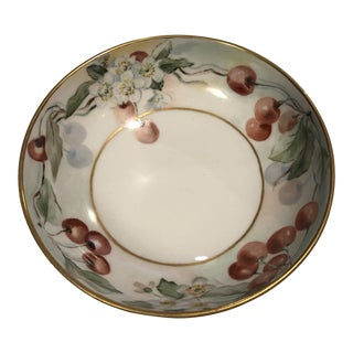 Vintage Cherry Pattern Limoges Bowl For Sale