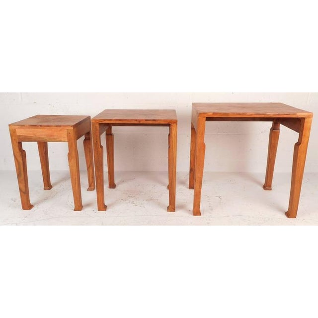 Sculptural Mid-Century Modern Nesting Tables - Set of 3 - Image 5 of 6