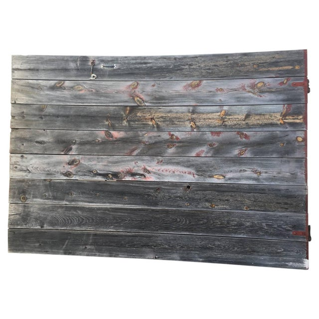 Antique Rustic Gray Barn Door - Image 1 of 8