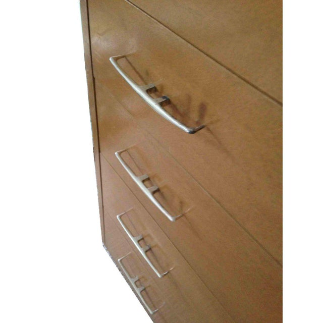 Lights 1950s Vintage R-Way Mid-Century Modern Trapezoid Highboy For Sale - Image 7 of 9