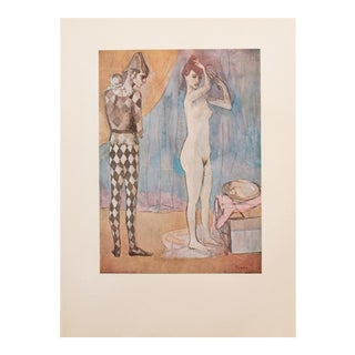 "1950s Pablo Picasso, Original Period Lithograph ""The Harlequin's Family"" For Sale"