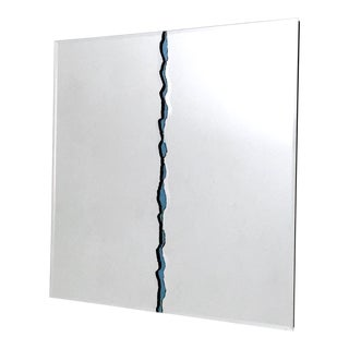 Square Wall Mirror by Gallotti & Radice With a Central Vein, Italy, 1980s