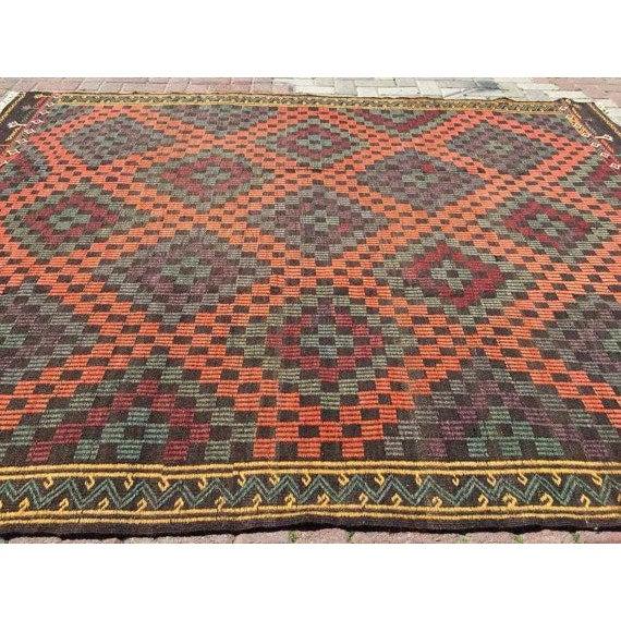 Vintage Handwoven Turkish Rug - 6'6'' x 8'6'' For Sale - Image 4 of 6