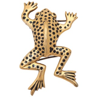 Large Frog Belt Buckle For Sale