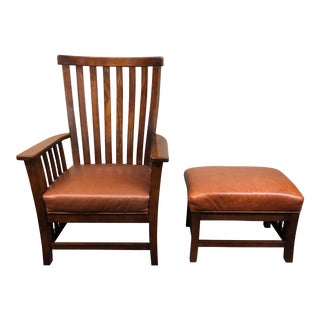 McCreary Modern Arts & Crafts Style Chair and Ottoman - 2 Pieces
