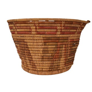 Woven Seagrass Native Round Basket For Sale