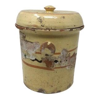 French Alsatian Preservation Jar With Lid For Sale