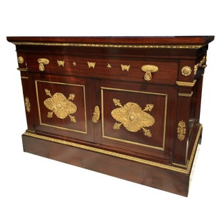Mahogany Empire Cabinet For Sale