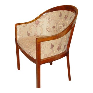 Ward Bennett For Brickel Fabric Upholstered Arm Chair For Sale