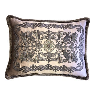 Decorative Textiles Metal Embroidered Silk Pillow For Sale