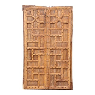 Pair of Geometric Patterned Doors For Sale
