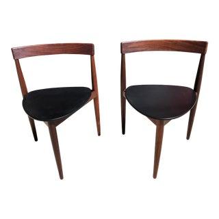 Mid Century Modern Danish Design Hans Olsen for Frem Rojle Side Chairs- A Pair For Sale