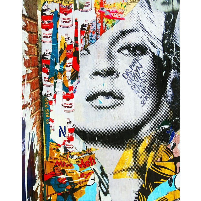Kate Moss Inspired New York Street Art Photo - Image 1 of 2