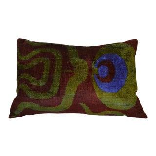 """""""Ferah"""" Silk Velvet Ikat Pillow"""