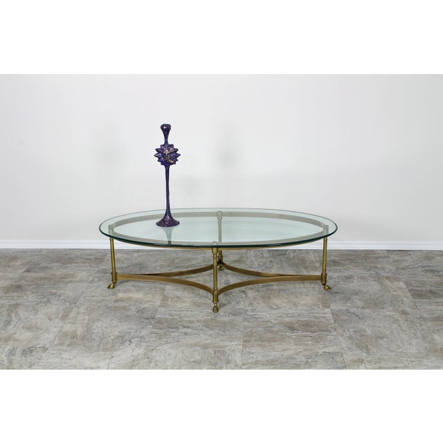 Mid Century Labarge Brass Coffee Table, Brass Coffee Table For Sale - Image 10 of 12