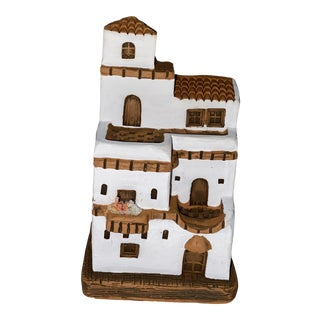 Vintage Late 20th Century Signed Ceramic Pueblo Style Home For Sale