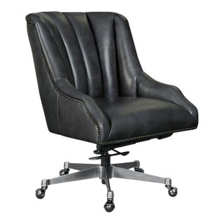 Kenneth Ludwig Chicago Buttonwood Leather Executive Chair For Sale