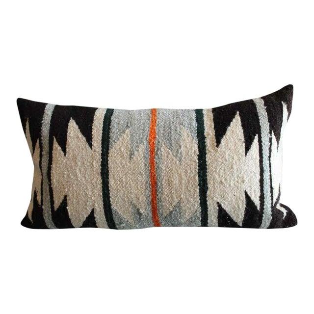 Navajo Geometric Indian Weaving Bolster Pillow For Sale