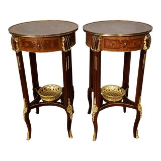 Late 20th Century Vintage Louis XV Style Side Tables/ Occasional Tables - a Pair For Sale
