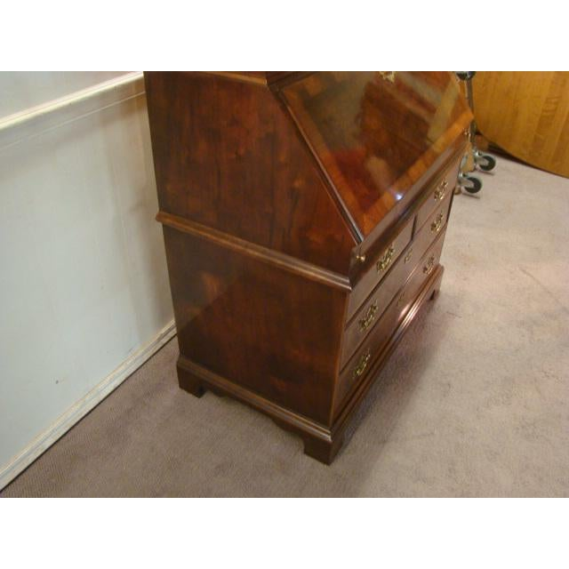 Traditional Traditional Henredon Aston Court Burl Wood Secretary Desk For Sale - Image 3 of 10