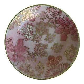 Dorothy C. Thorpe Pink and Gold Cachepot Jewelry Bowl For Sale