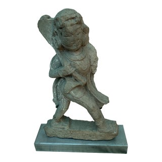 12th Century Indian Carved Stone Deity Sculpture For Sale