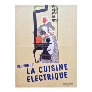 Early 20th Century Jean Colin French Advertising Poster
