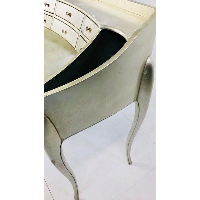 Art Deco Art Deco Century Furniture Silverleaf Vanity For Sale - Image 3 of 5