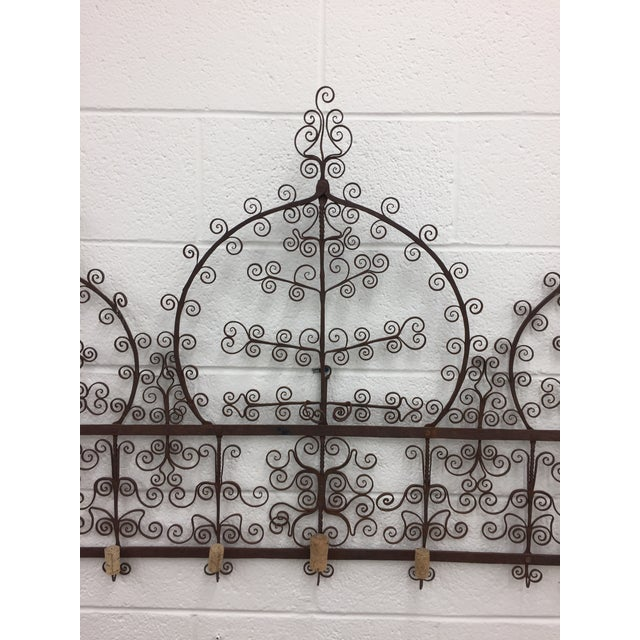 Antique Hand Forged Iron Herb Drying Rack