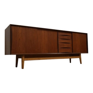 Swedish Modern Teak Credenza For Sale