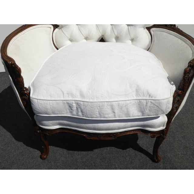 White French Rococo Ornate Chair For Sale - Image 10 of 11