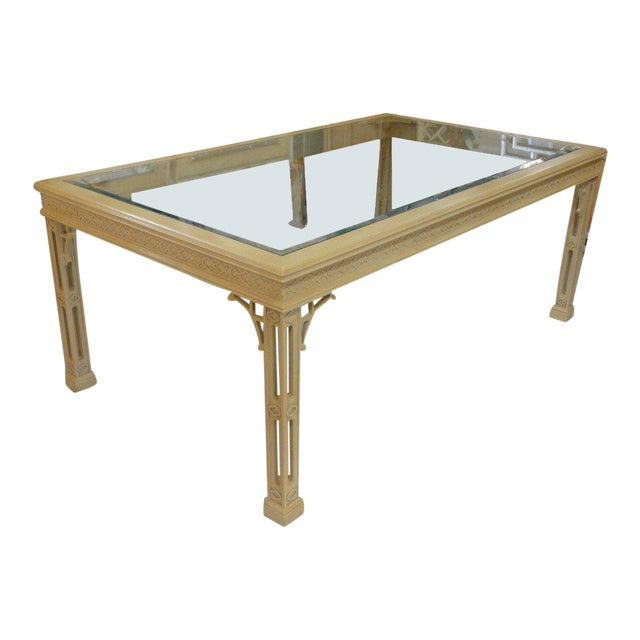 Hollywood Regency Fretwork Dining Table - Image 1 of 11