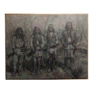"""Stevan Kissel """" Group of Apache Scouts u.s. Army 1866–1914"""" Oil Painting For Sale"""