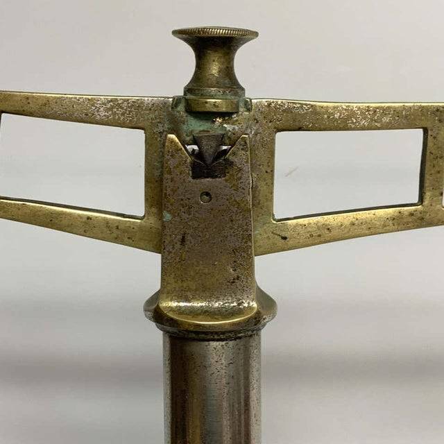 Antique Italian Mixed Metal Fruit Scale For Sale - Image 4 of 13