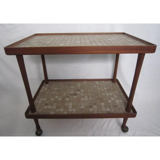 Danish Modern Teak Tea Cart For Sale - Image 6 of 6